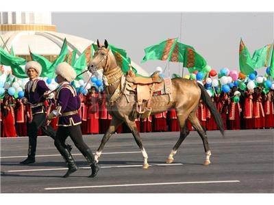 Türkmenistan'da 1992 yılından beri Nisan aylarının son haftasında At Bayramı yapılıyor