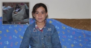 Kağıt toplama arabasında kalem, kitapla görüntülenen kızın hikayesi