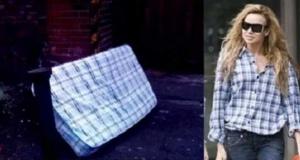 Çöpe atılan yataklar ve ünlülerin kıyafetleri arasındaki ilginç benzerlik