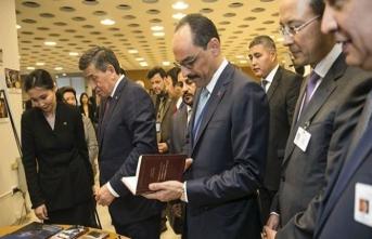 Kalın BM'de 'Cengiz Aytmatov' sergisinin açılışına katıldı