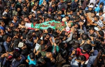 Bugün Gazze... Yüzlerce kişi uğurladı