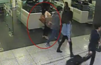 Yer Atatürk Havalimanı! Ayakkabılarından çıktı...