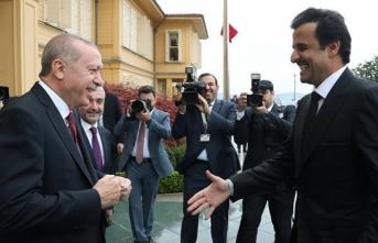 Başkan Erdoğan, Katar Emiri ile bir araya geldi
