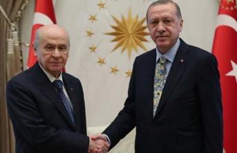 Erdoğan'dan Bahçeli görüşmesine ilişkin ilk açıklama