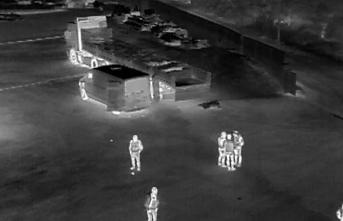 Midye kaçakçılarını drone buldu