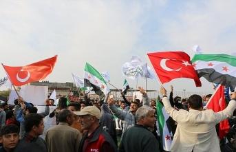 Suriyelilerden PKK-YPG'ye lanet