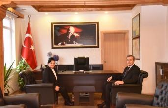 Vali Civelek, Kaymakam Başçelik'i ziyaret etti