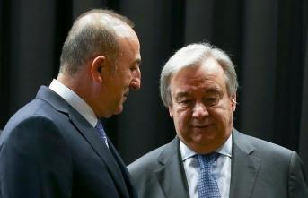 Bakan Çavuşoğlu BM Genel Sekreteri Guterres ile görüştü
