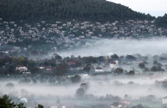 Hayalet köyün sisli güzelliği