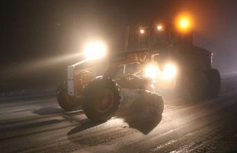 Kar yağışı trafiği vurdu