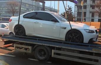 Lüks aracıyla drift yapan sürücüye ceza yağdı