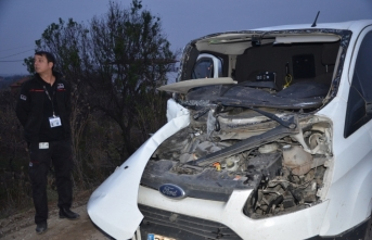 Para nakil aracı kamyonete çarptı: 1 ölü, 1 yaralı