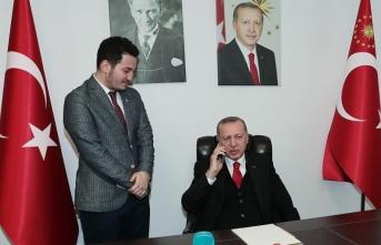 Cumhurbaşkanı Erdoğan'dan genç doktora jest