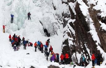 Erzurum'da buz tırmanış festivali başlıyor