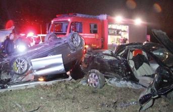 Genç çifti korkunç kaza ayırdı