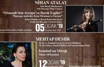 Klasik müzik konserleri yıl boyunca Şerefiye Sarnıcı'nda