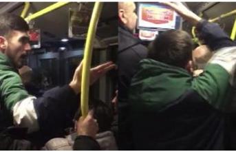 Maç sonu metrobüste ortalık karıştı! 'Çocuk var, yapmayın'