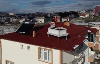 Samsun'da evin çatısını gören şoke oluyor