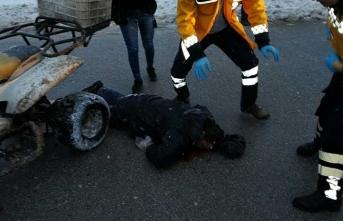 Sivas'ta ATV aracı devrildi, 1 yaralı