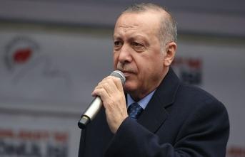 Cumhurbaşkanı Erdoğan'dan Mansur Yavaş'a: Parti ambleminden korkan aday