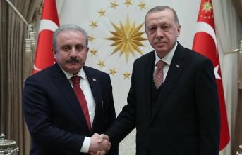 Cumhurbaşkanı Erdoğan Şentop'u kabul etti