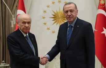 Erdoğan ile Bahçeli Beştepe'de görüştü