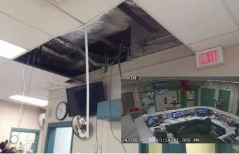 Firar ederken havalandırma tüneli çöktü, polislerin arasına düştü!