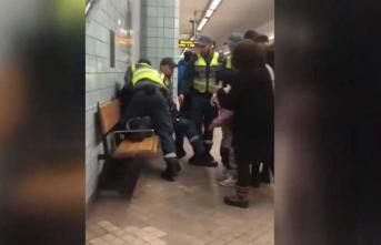 Hamile kadına metroda şiddet