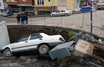 Suşehri'nde trafik kazası: 1 yaralı