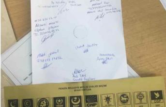 CHP'ye mühür basılmış sahte oy pusulası ele geçirildi!