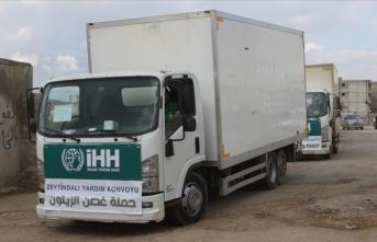 İHH'dan Afrin'e yardım konvoyu