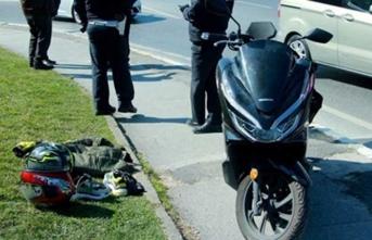 Motosikletli kuryeye 300 bin dolarlık gasp