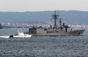 NATO gemileri Çanakkale Boğazı'ndan geçti