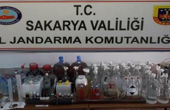 Sakarya'da kaçak içki operasyonu