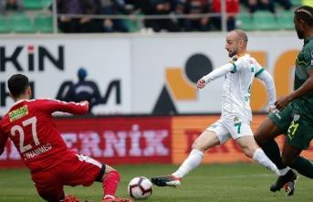 Bursaspor deplasmanda mağlup
