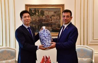 Çin Başkonsolosu'ndan CHP'li İmamoğlu'na ziyaret