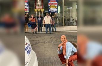 Müslüman kadın Şeyma tek hareketiyle dünyayı kendisine hayran bıraktı