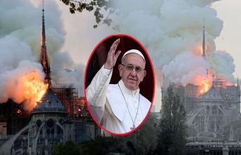 Notre Dame Katedrali yangınında flaş gelişme! Papa çağrı yaptı