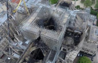 Yangın sonrası Notre Dame Katedrali'nin havadan görüntüleri