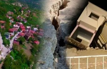 Art arda meydana gelen heyelanda 15 ev çöktü! Mahalle boşaltılıyor