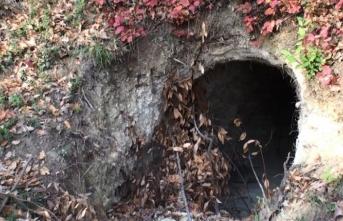 Bartın'da 20 metrelik 'define tüneli' bulundu