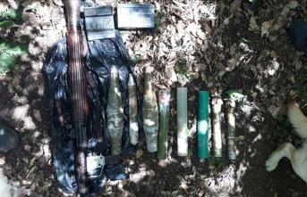 Gümüşhane'de PKK'ya ait silah deposu bulundu