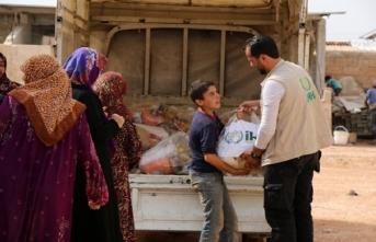 İdlib'deki saldırılardan kaçanlara insani yardım