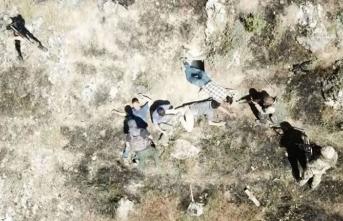 İşte görüntüler! 4 terörist böyle teslim oldu