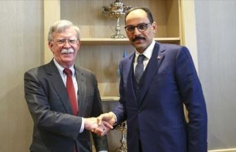 Kalın, Bolton ile Suriye ve ikili ilişkileri görüştü