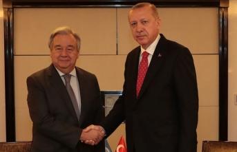 Cumhurbaşkanı Erdoğan ile BM Genel Sekreteri Guterres telefonda görüştü