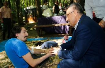 Cumhurbaşkanı Yardımcısı Oktay Kirazlıbent mesire alanını ziyaret etti