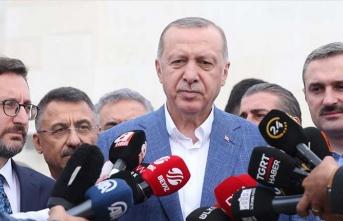 Cumhurbaşkanı Erdoğan: 'Bu hakları alakası olmayanlara yedirmeyiz'