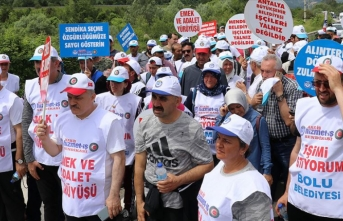 'Emek ve Adalet Yürüyüşü'nün ikinci günü tamamlandı
