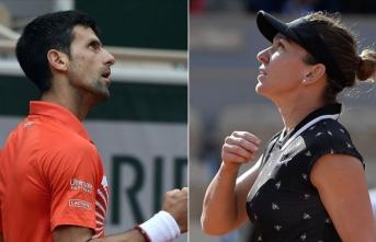 Fransa Açık'ta Djokovic ile Halep çeyrek finalde